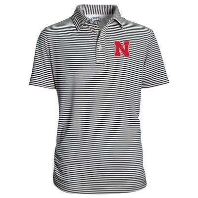 Nebraska Garb Toddler Stripe Polo