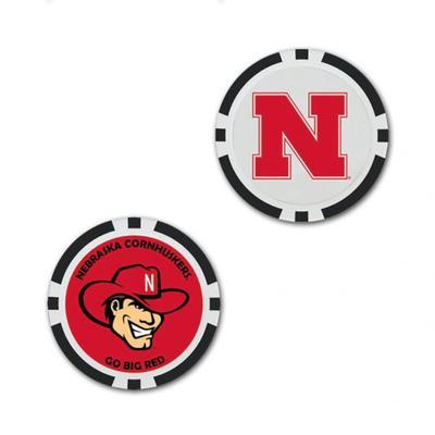 Nebraska Wincraft Oversized Ball Marker