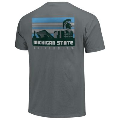 Michigan State Comfort Colors Campus Skyline Tee