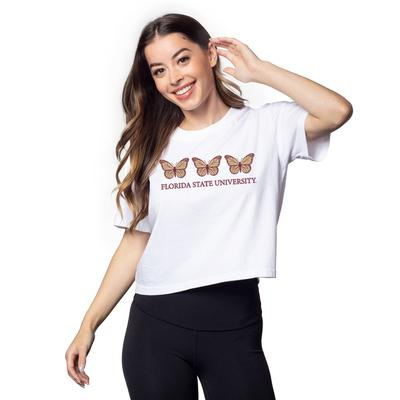 Florida State Chicka-D Short and Sweet Butterfly Serif Crop Tee