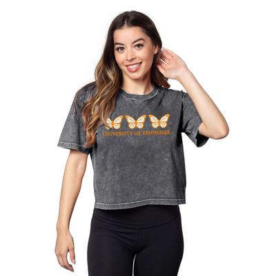 Tennessee Chicka-D Short and Sweet Butterfly Serif Crop Tee