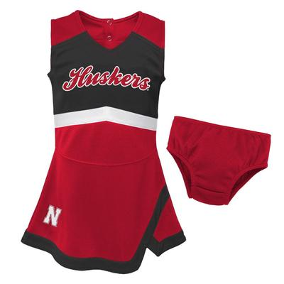 Nebraska Gen2 Girls Cheer Dress with Bloomer