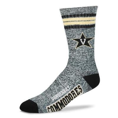 Vanderbilt 4-Stripe Marbled Deuce Sock