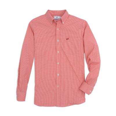 Western Kentucky Southern Tide Men's Intercoastal Gingham Sport Shirt RED