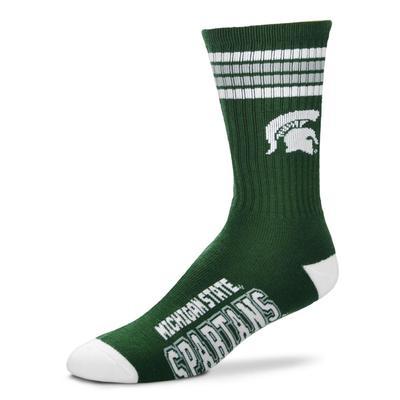 Michigan State 4-Stripe Deuce Sock
