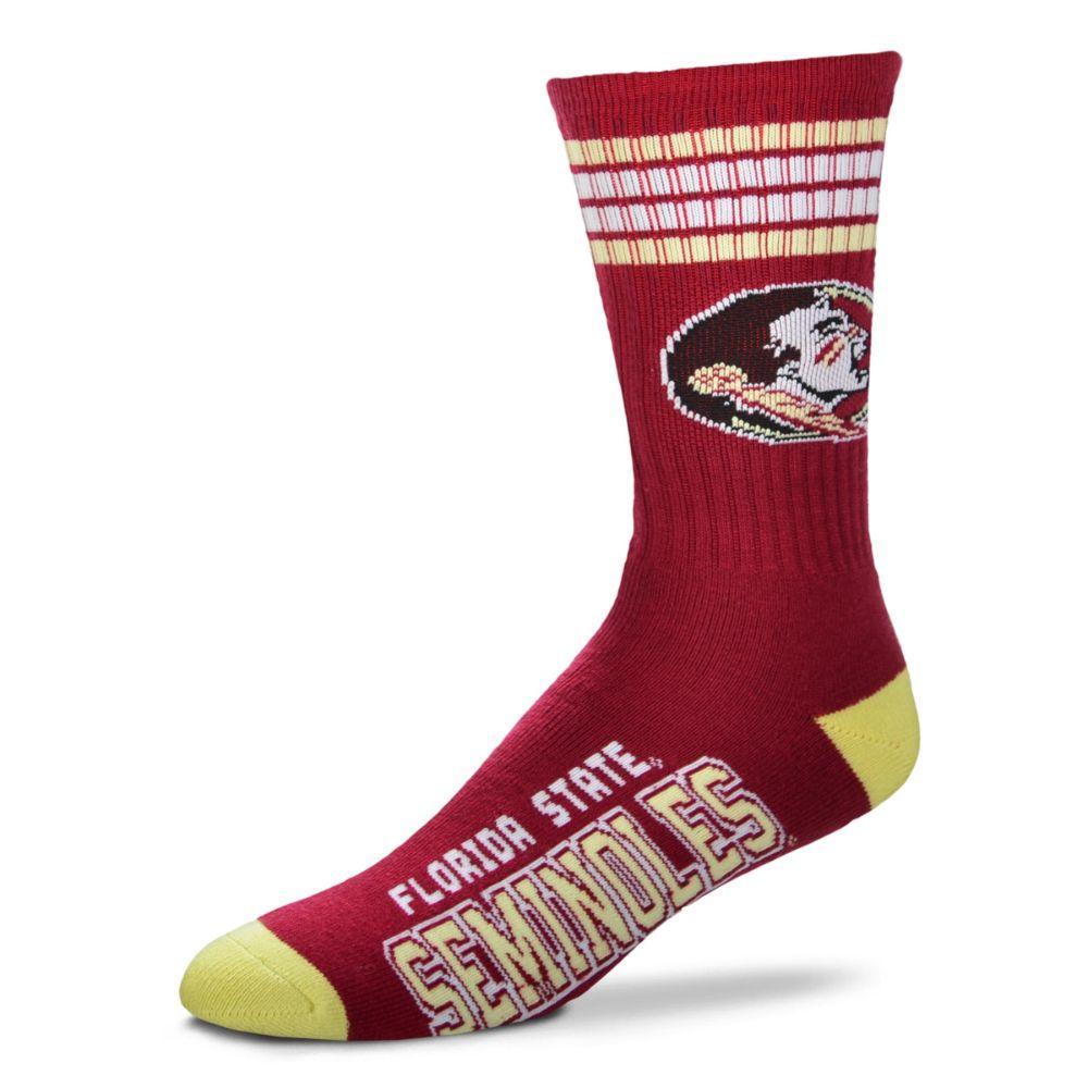 Florida State 4- Stripe Deuce Sock