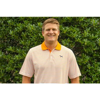 Tennessee Volunteer Traditions Bluetick Hester Stripe Polo