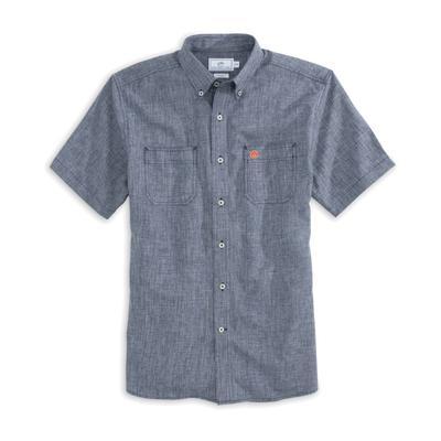 Auburn Southern Tide Dock Chambray Shirt