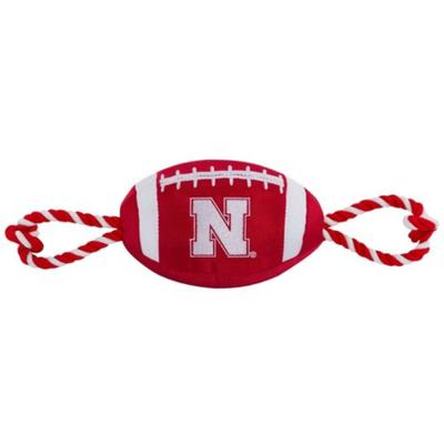 Nebraska Nylon Football Pet Toy