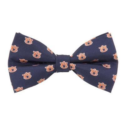 Auburn Repeat Logo Bow Tie