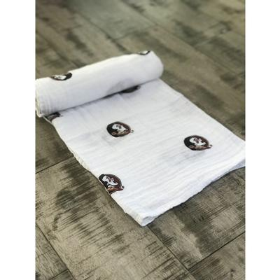 Florida State Cotton Muslin Swaddle Blanket
