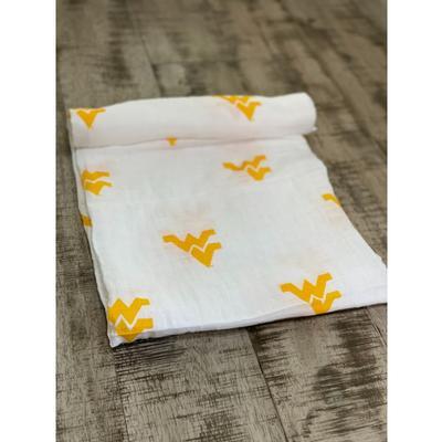 West Virginia Cotton Muslin Swaddle Blanket