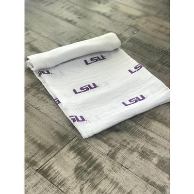 LSU Cotton Muslin Swaddle Blanket