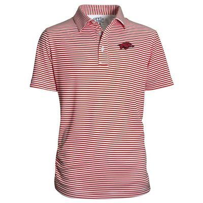 Arkansas Garb YOUTH Stripe Polo