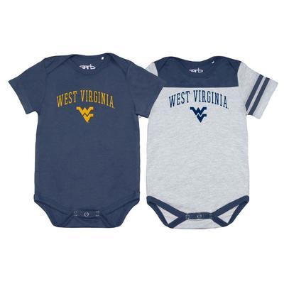 West Virginia Garb 2pk Infant Onesies