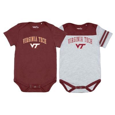 Virginia Tech Garb 2pk Infant Onesies
