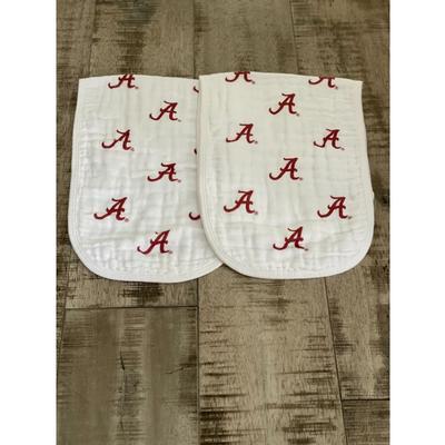 Alabama Cotton Muslin Burp Cloths (2 pack)