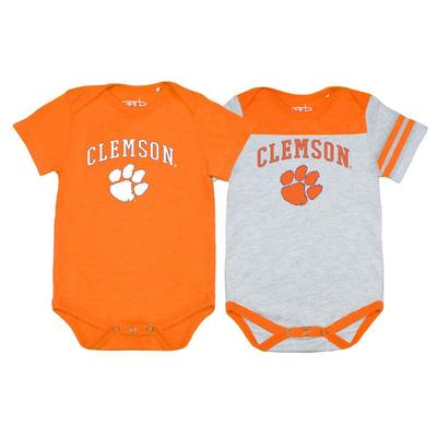 Clemson Garb 2pk Infant Onesies