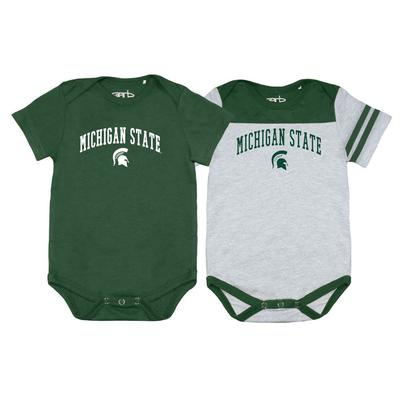 Michigan State Garb 2pk Infant Onesies