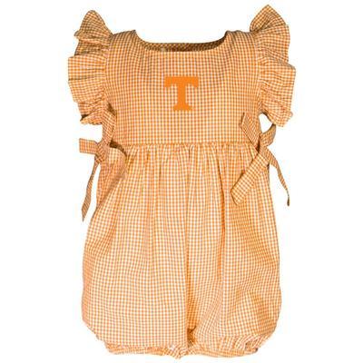 Tennessee Garb Infant Gingham Ruffle Sleeve Onesie