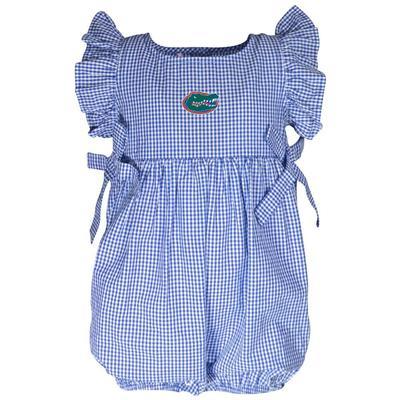 Florida Garb Infant Gingham Ruffle Sleeve Onesie