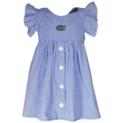 Florida Garb Toddler Gingham Ruffle Sleeve Dress