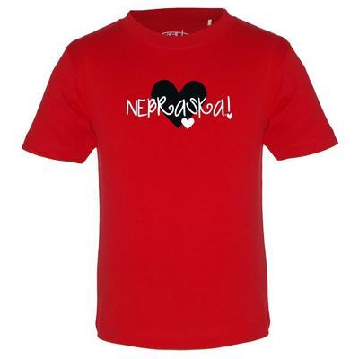 Nebraska Garb Toddler Heart Logo Tee
