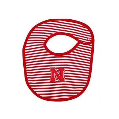Nebraska Striped Knit Bib