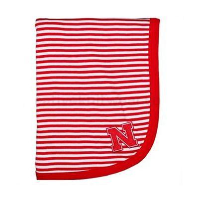 Nebraska Striped Knit Baby Blanket