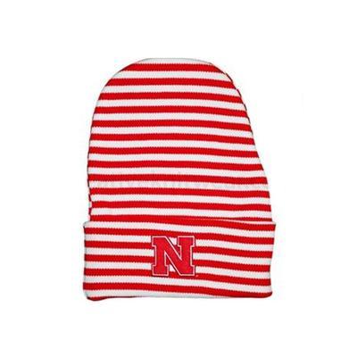 Nebraska Striped Knit Cap