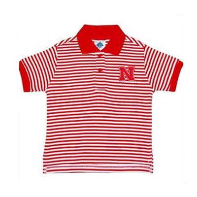 Nebraska Toddler Striped Polo Shirt