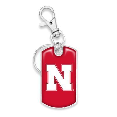 Nebraska Dog Tag Keychain