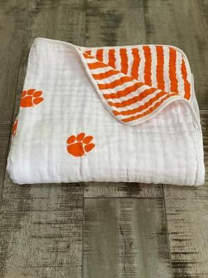 Clemson Four Layer Cotton Baby Blanket