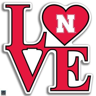 Nebraska 6 in Love Decal