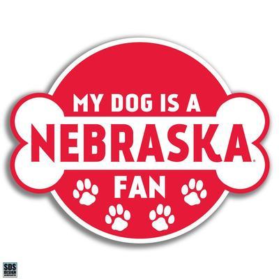 Nebraska 6 in My Dog is a Nebraska Fan Decal