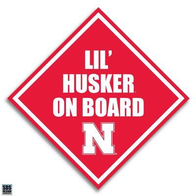 Nebraska 6 in Lil Husker on Board Decal