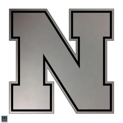 Nebraska 3 in Chrome N Logo Decal
