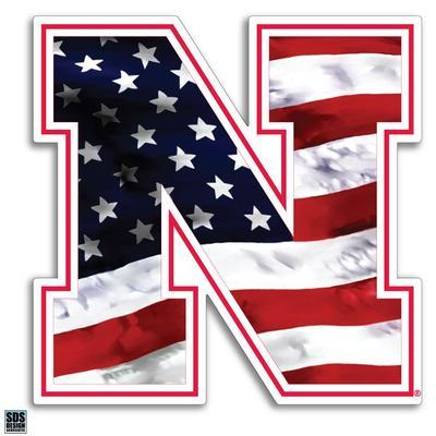 Nebraska 6 in Americana N Logo Decal