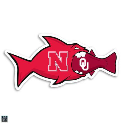 Nebraska 3 in Neb VS OU Fish Decal