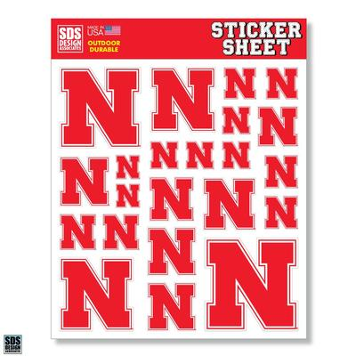Nebraska Sticker Sheet