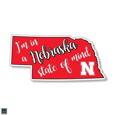 Nebraska 6 inch State of Mind Decal