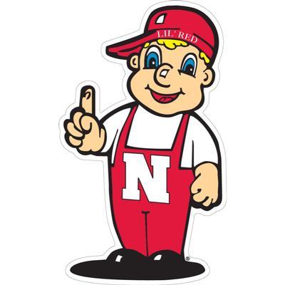 Nebraska 6 inch Lil Red Magnet