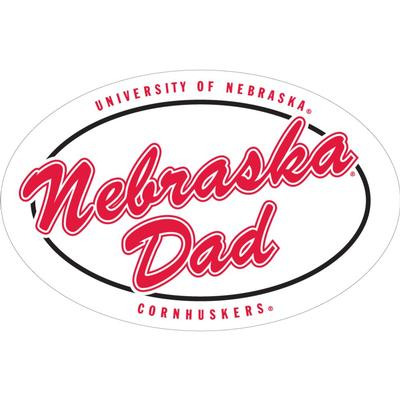 Nebraska 6 inch Nebraska Dad Magnet