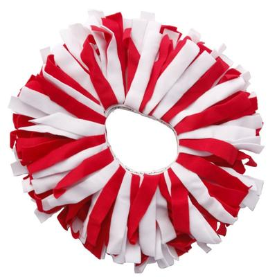 Pomchie Red and White Classic Hair Scrunchie