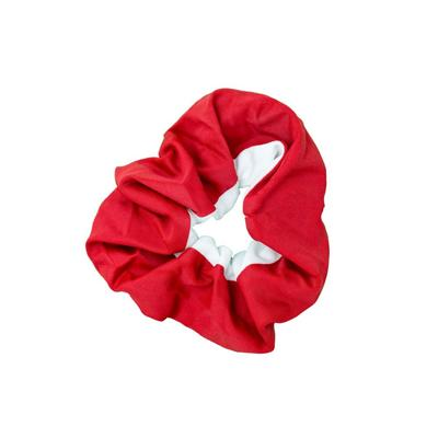 Pomchie Red and White Hair Scrunchie