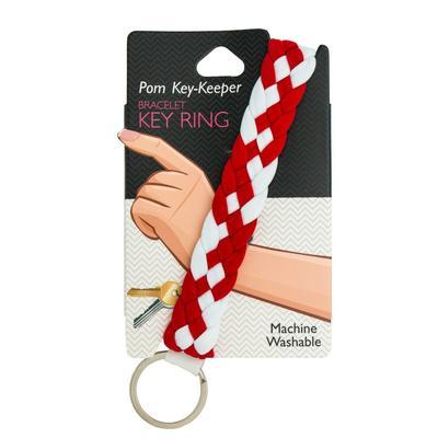 Pomchie Red and White Pom-Key Keeper