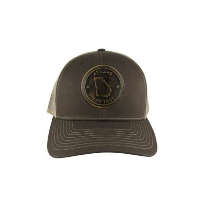 Athens Zeppro Leather Circle Patch Adjustable Hat