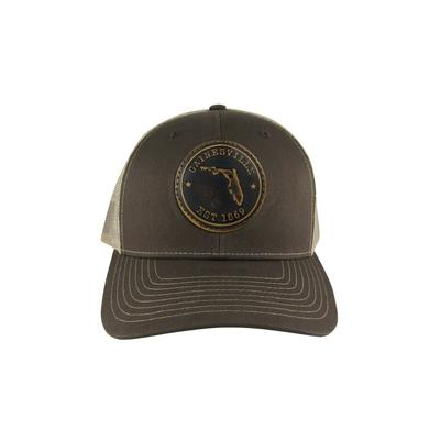 Gainesville Zeppro Leather Circle Patch Adjustable Hat