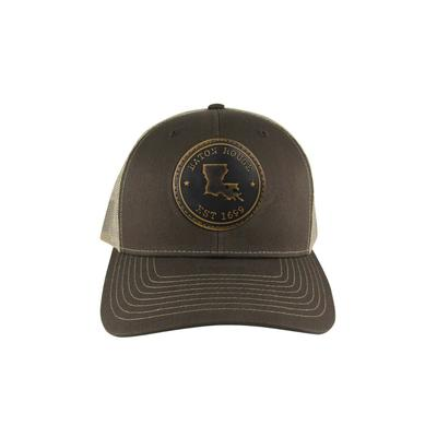 Baton Rouge Zeppro Leather Circle Patch Adjustable Hat