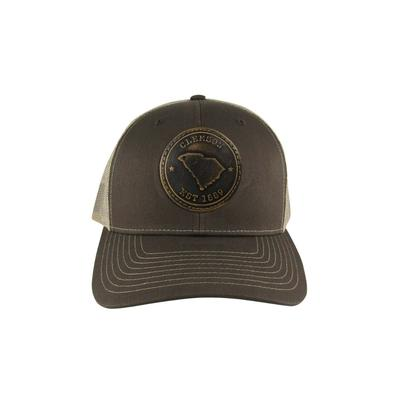 Clemson Zeppro Leather Circle Patch Adjustable Hat